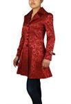 Jacquard Lace-Up Ruffled Jacket