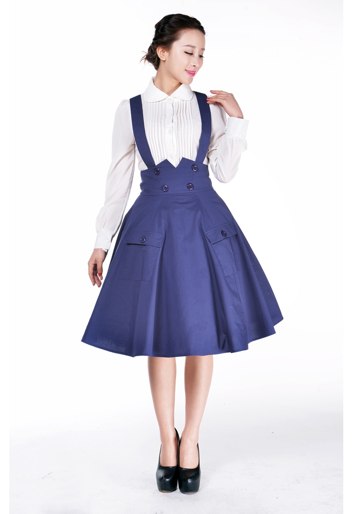 1950s Circle Suspender Skirt