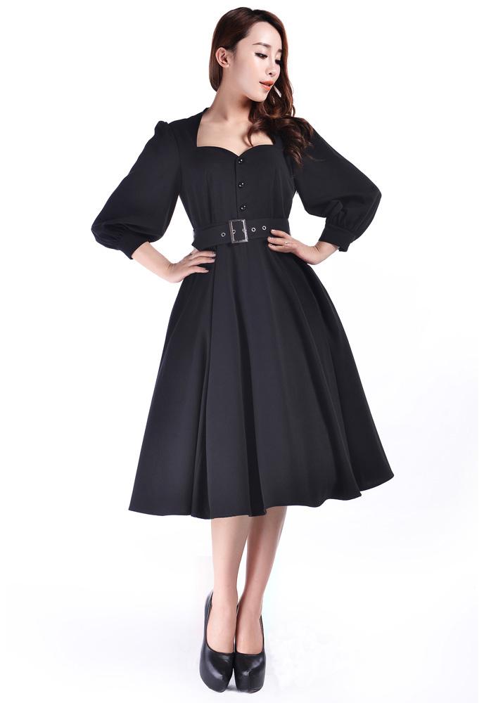 Retro Sleeved Dress