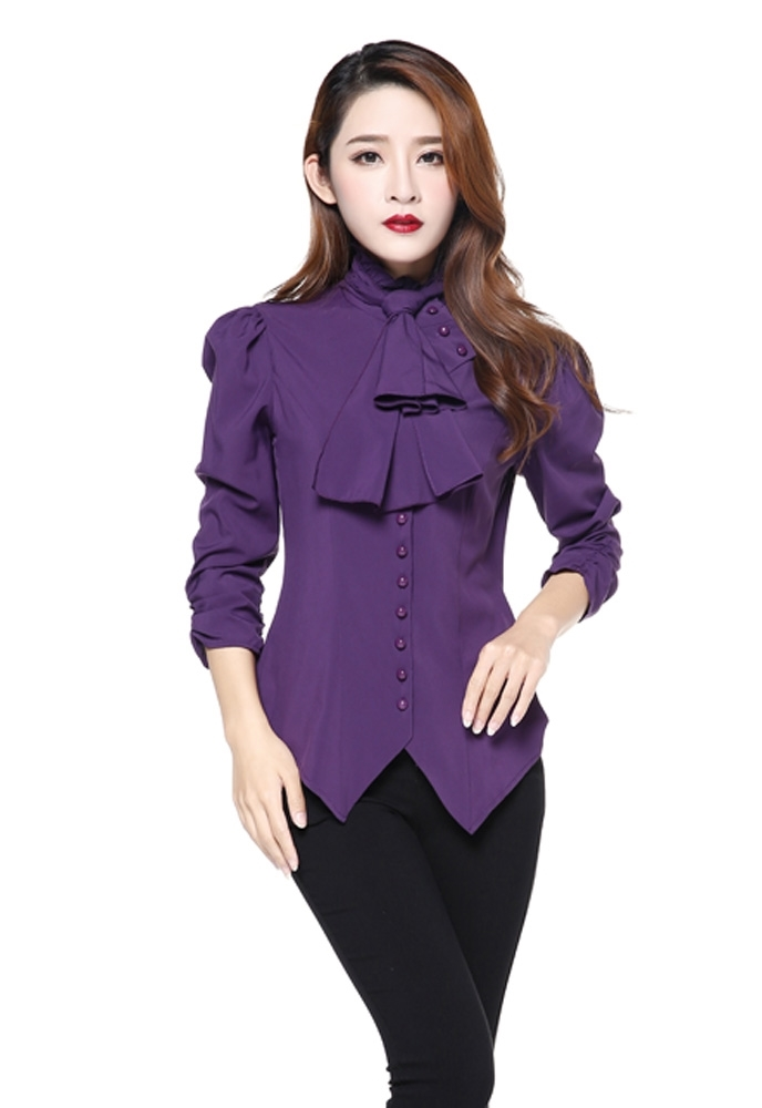 Steam Punk Blouse w/ Ruched Sleeves