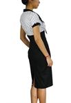 Plus Size Polka-dot Pencil Dress