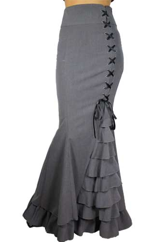 Plus Size Fishtail Ruffles Skirt