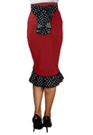Plus Size Ruffles Pencil Skirt