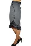 Plus Size Ruffles Pencil Skirt