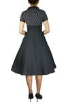 Plus Size Polka-dot Flare Dress