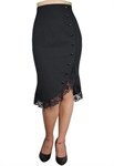 Plus Size Pinup Ruffle Skirt