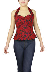 Plus Size Printed Halter Top
