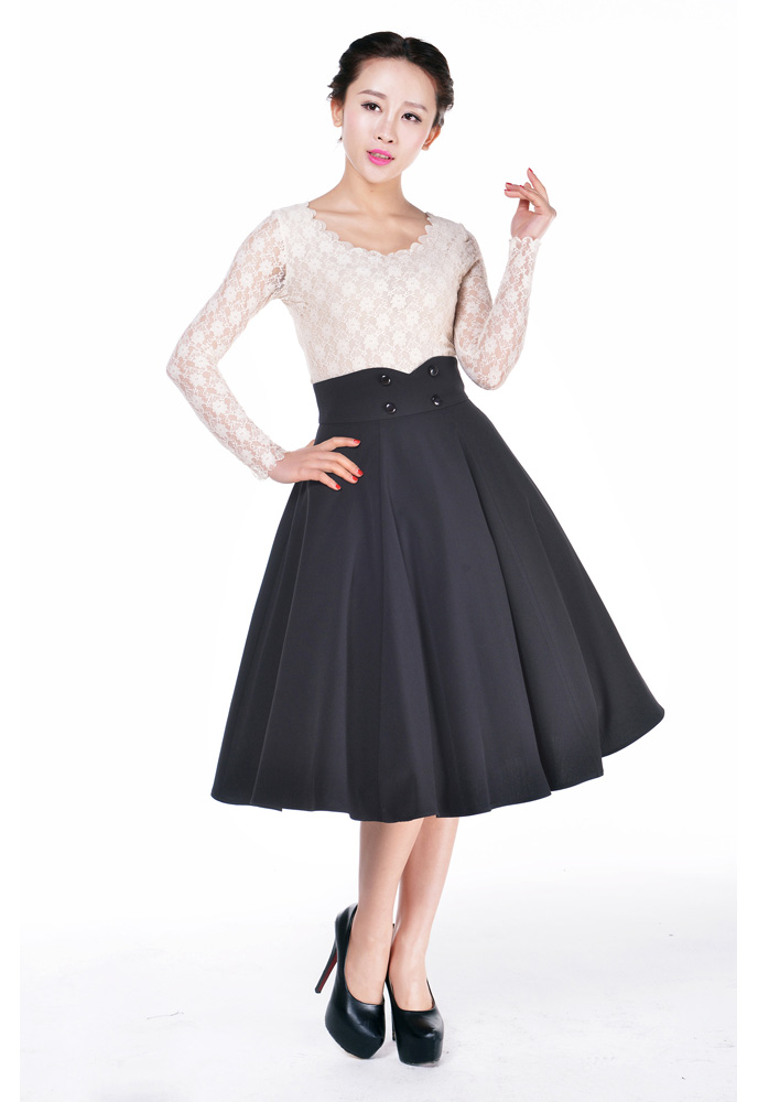 Plus Size Rockabilly Swing Skirt