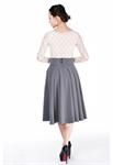 Plus Size Rockabilly Swing Skirt