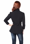 Plus Size Steam Punk Blouse w/ Ruched Sleeves
