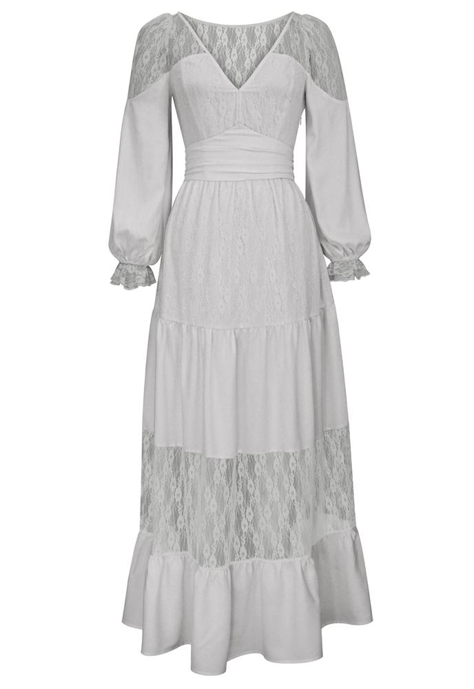 Lace Bohemian Maxi Dress