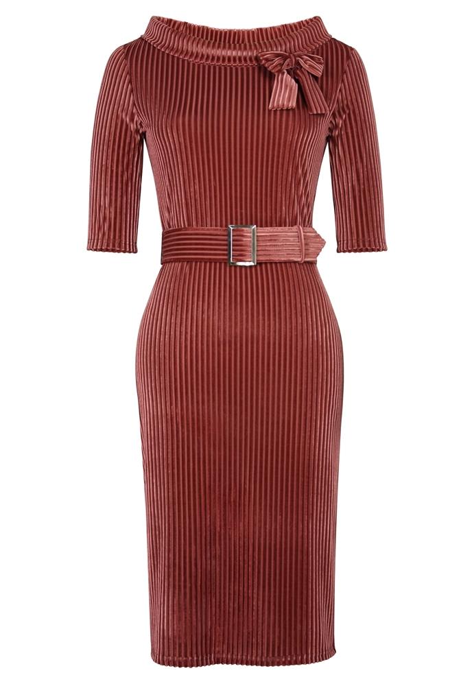 Stripes Velvet Dress
