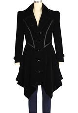 Flocking Velvet Coat