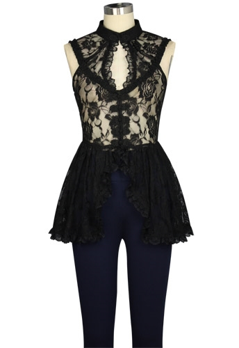 Lace Gothic Top