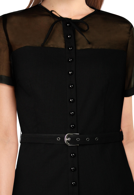 Buttons Mini Dress