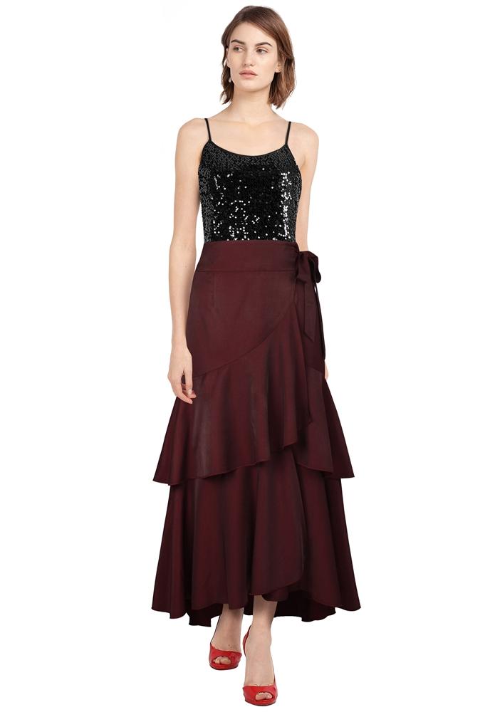 Layered Ruffles Gothic Skirt