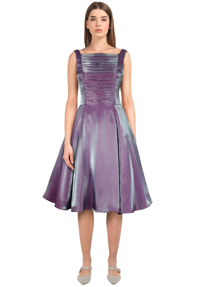 Shimmer Pleated Dress