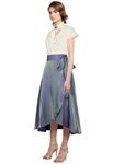 Shimmer Wrap Skirt