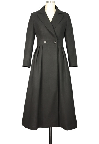 Wool Long Peacoat