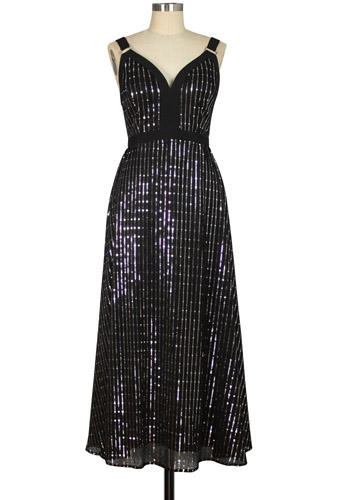 Metallic Straps Dress