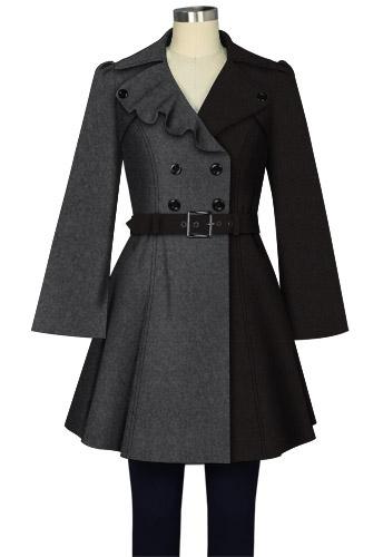 Contrast Wool Jacket