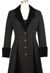 Velvet Trim Coat