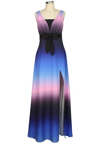 Print Bohemian Maxi Dress
