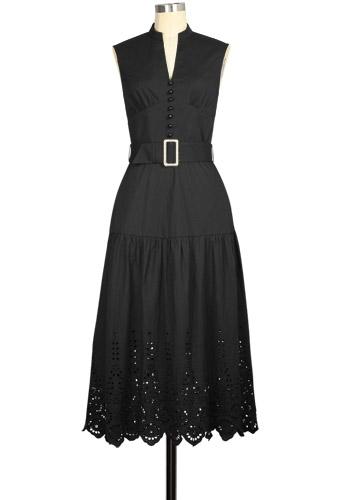 Eyelet Long Hippie Dress
