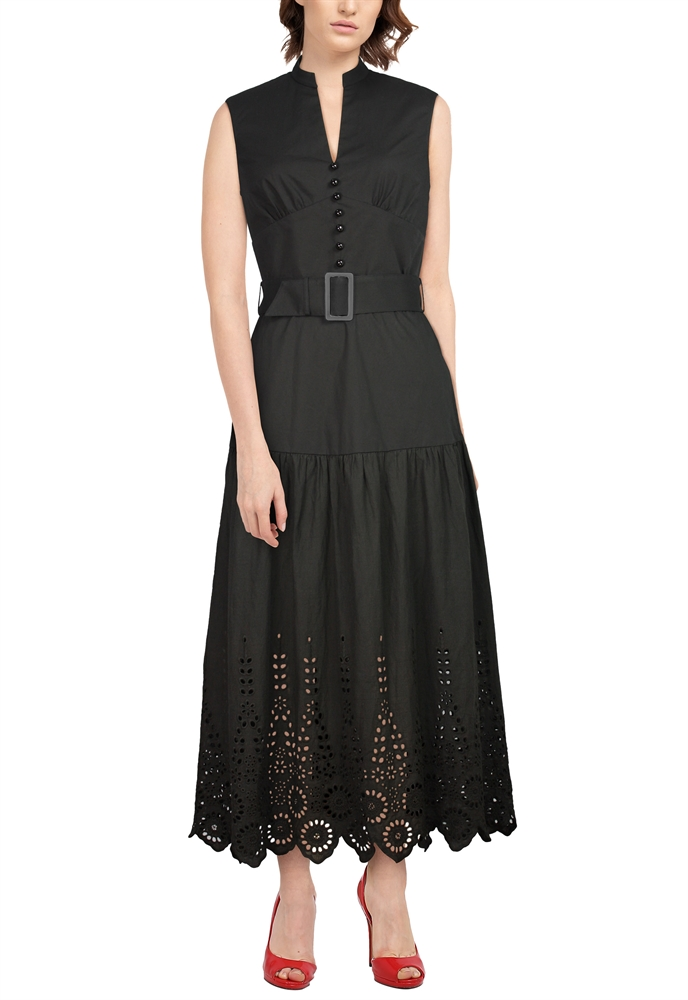 Eyelet Long Dress