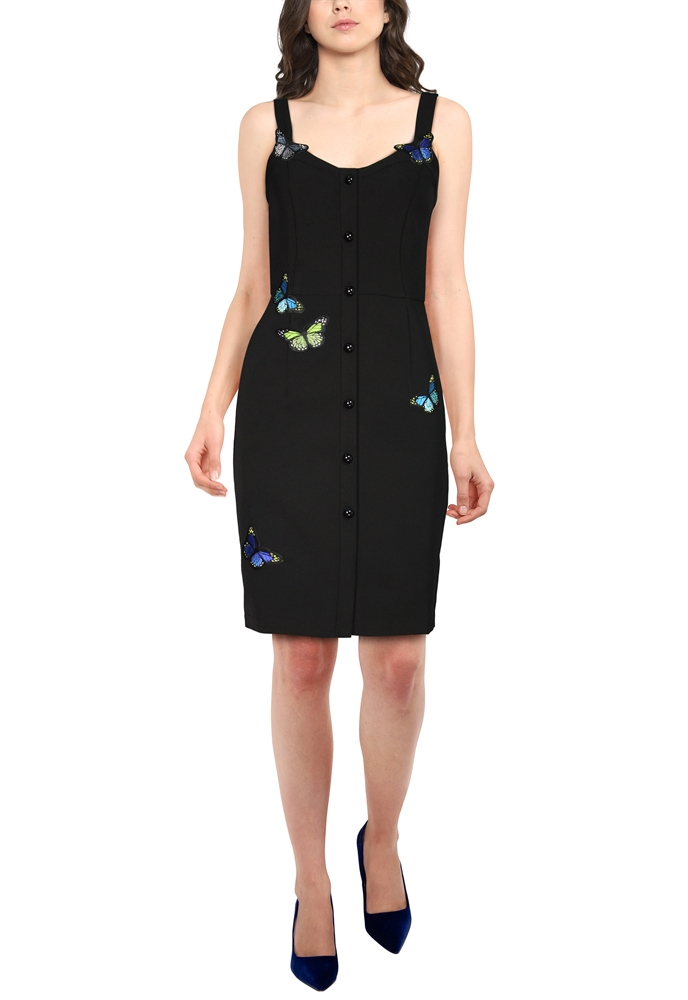 Applique Mini Dress