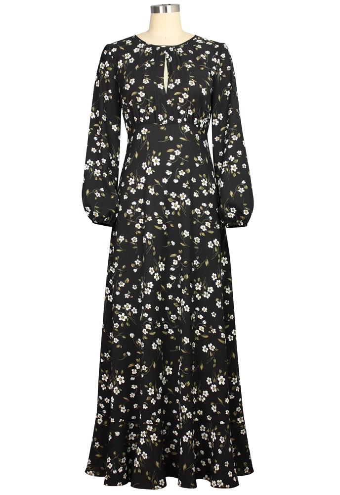 Print Boho Maxi Dress