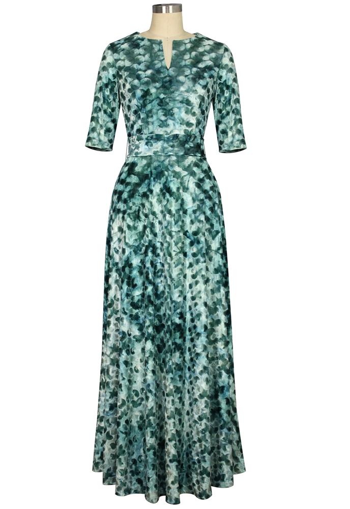 Boho Tie-die Velvet Dress