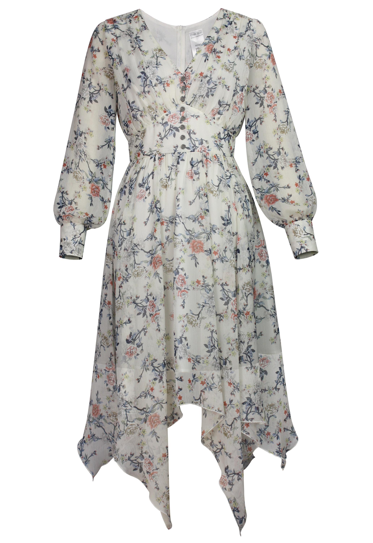 Floral Chiffon Goth Dress