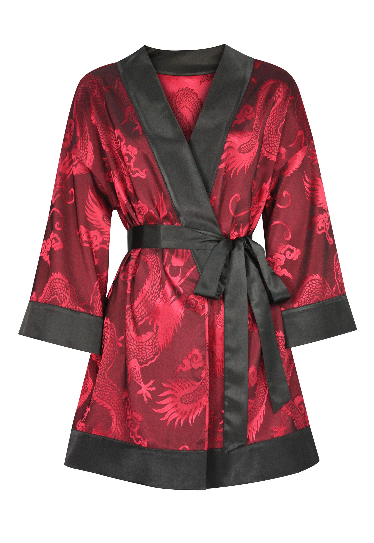 Jacquard Kimono Wrap Top