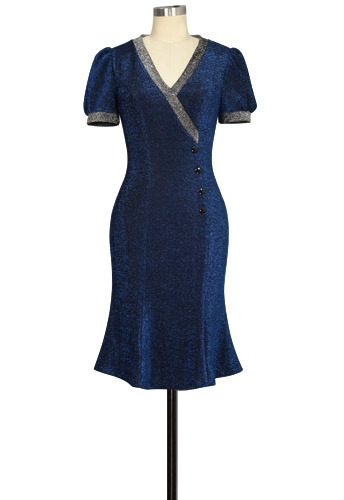 Lurex Fishtail Dress