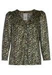 Leopard Velvet Blouse
