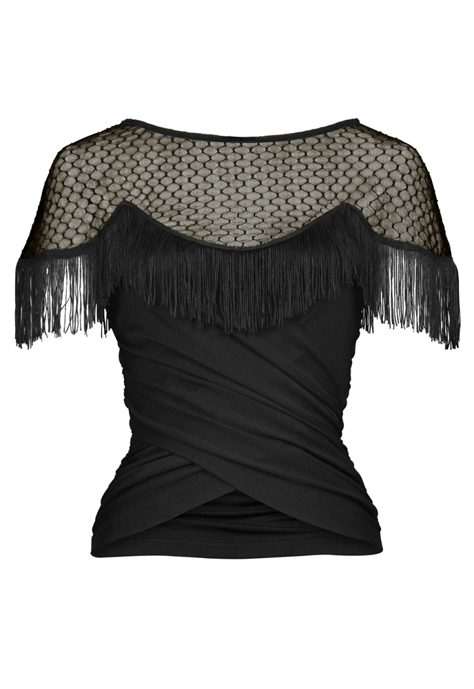 Lace Fringe Top