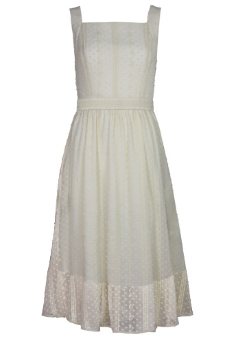 Textured Embroidery Dress