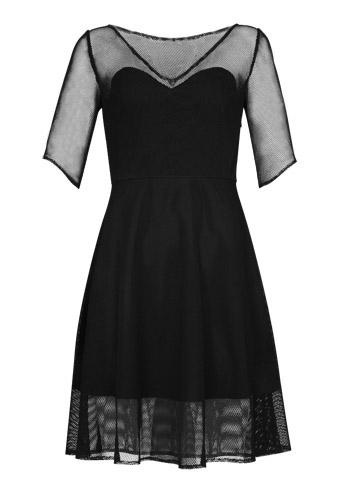 Fishnet Midi Dress
