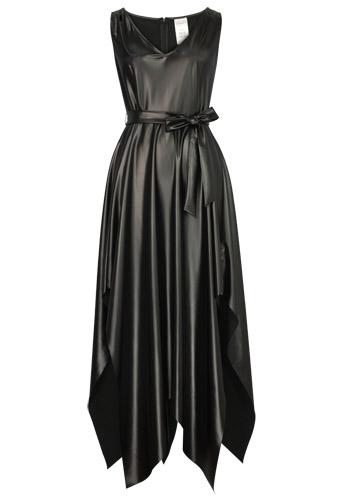 Faux Leather Handkerchief Dress