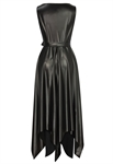 Faux Leather Handkerchief Dress