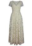 Sequin Surplice Dress