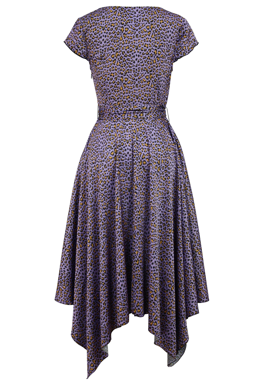 Leopard Satin Dress