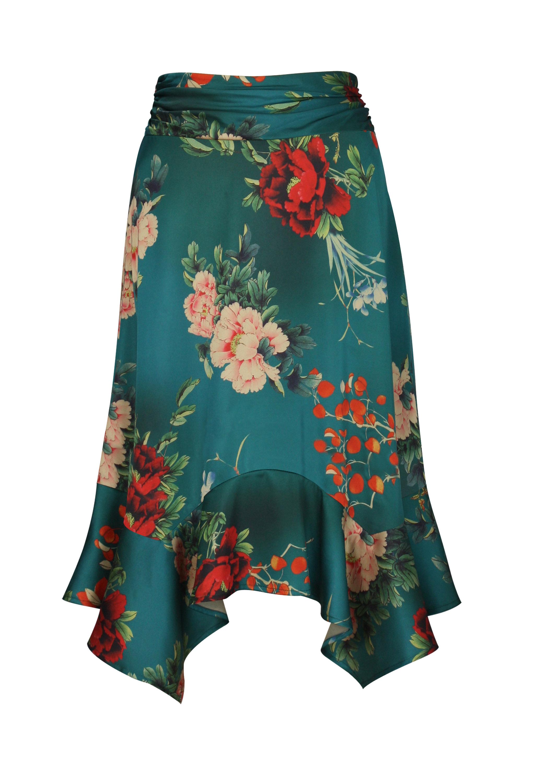Handkerchief Satin Skirt