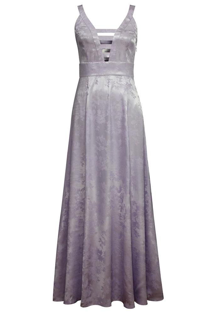 Jacquard Satin Dress
