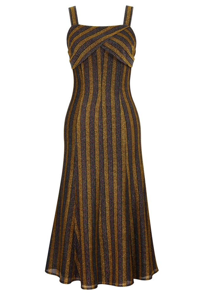 Sparkle Striped Slip Dress