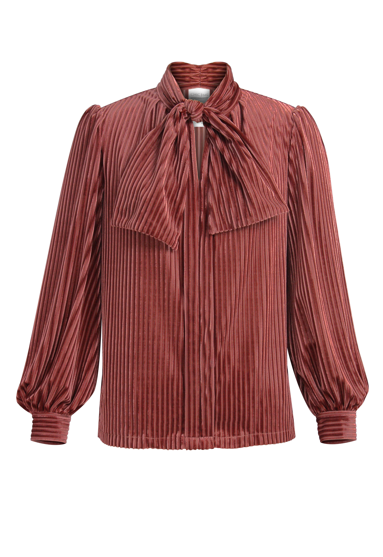 Velvet Tie Blouse