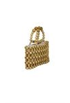 Wood Beaded Handbag